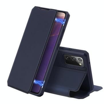 Voor Samsung Galaxy Note20 DUX DUCIS Skin X Series PU + TPU Horizontale Flip Lederen kast met Holder & Card Slots(Blauw)