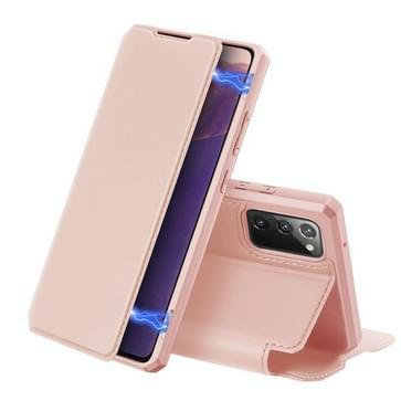 Voor Samsung Galaxy Note20 DUX DUCIS Skin X Series PU + TPU Horizontale Flip Lederen kast met Holder & Card Slots(Pink)