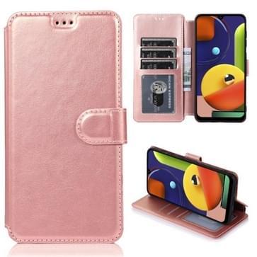 Voor Samsung Galaxy A50s Kalf texture magnetische gesp horizontale flip lederen case met houder & kaartslots & portemonnee & fotoframe (Rose Gold)