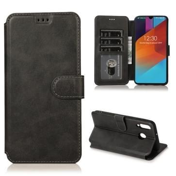 Voor Samsung Galaxy M30 Kalf texture Magnetische gesp horizontale flip lederen case met houder & kaartslots & portemonnee & fotoframe(zwart)