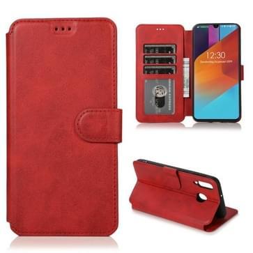 Voor Samsung Galaxy M30 Kalf texture Magnetische gesp horizontale flip lederen case met houder & kaartslots & portemonnee & fotoframe(rood)