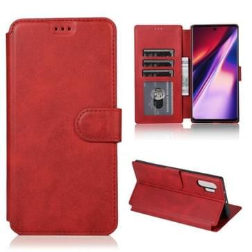 Voor Samsung Galaxy Note 10 Pro Kalfstextuur Magnetische gesp horizontale flip lederen kast met houder & kaartslots & portemonnee & fotoframe(rood)