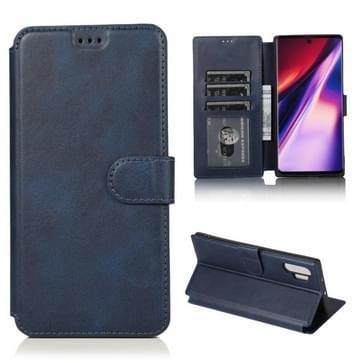 Voor Samsung Galaxy Note 10 Pro Kalfstextuur Magnetische gesp horizontale flip lederen kast met houder & kaartslots & portemonnee & fotoframe(blauw)