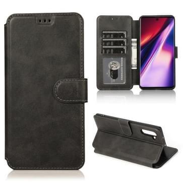 Voor Samsung Galaxy Note 10 Kalf texture Magnetische gesp horizontale flip lederen case met houder & kaartslots & portemonnee & fotoframe(zwart)