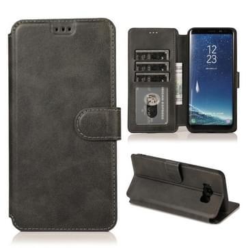 Voor Samsung Galaxy S8 Plus Kalf texture Magnetische gesp horizontale flip lederen case met houder & kaartslots & portemonnee & fotoframe(zwart)