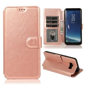Voor Samsung Galaxy S8 Plus Kalf texture Magnetische gesp horizontale flip lederen case met houder & kaartslots & portemonnee & fotoframe (Rose Gold)