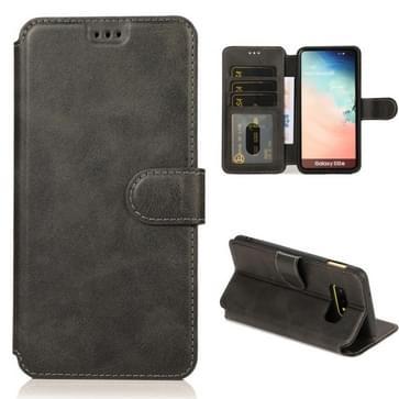 Voor Samsung Galaxy S10e Kalf texture magnetische gesp horizontale flip lederen case met houder & kaartslots & portemonnee & fotoframe(zwart)