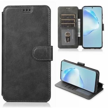 Voor Samsung Galaxy S20 Plus Kalf texture magnetische gesp horizontale flip lederen case met houder & kaartslots & portemonnee & fotoframe(zwart)