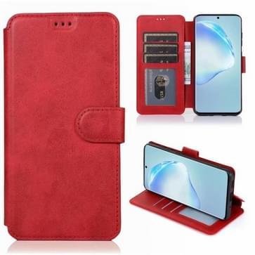 Voor Samsung Galaxy S20 Plus Kalf texture magnetische gesp horizontale flip lederen case met houder & kaartslots & portemonnee & fotoframe(rood)