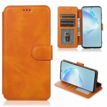 Voor Samsung Galaxy S20 Plus Kalf texture magnetische gesp horizontale flip lederen case met houder & kaartslots & portemonnee & fotoframe (Khaki)