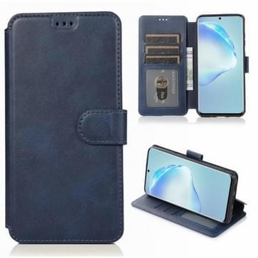 Voor Samsung Galaxy S20 Plus Kalf texture magnetische gesp horizontale flip lederen case met houder & kaartslots & portemonnee & fotoframe(blauw)