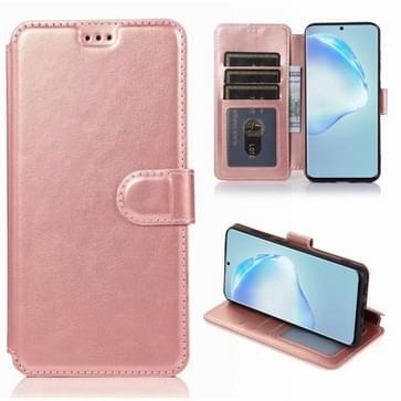 Voor Samsung Galaxy S20 Plus Kalf texture magnetische gesp horizontale flip lederen case met houder & kaartslots & portemonnee & fotoframe (Rose Gold)