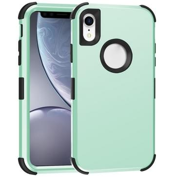 Voor iPhone XR 3 in 1 All-inclusive Shockproof Airbag Siliconen + PC Case(Paars)