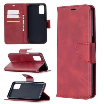 Voor Oppo A72 / A52 / A92 Retro Lambskin Texture Pure Color Horizontale Flip PU Lederen case met Holder & Card Slots & Wallet & Lanyard(Red)