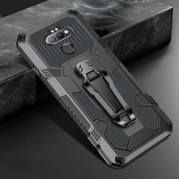 Voor LG Aristo 5 Pro Machine Armor Warrior Shockproof PC + TPU Beschermhoes (Space Gray)