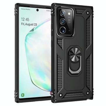 Voor Samsung Galaxy Note20 Ultra Schokbestendige TPU + pc beschermhoes met 360 graden roterende houder(zwart)