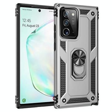 Voor Samsung Galaxy Note20 Ultra Schokbestendige TPU + pc beschermhoes met 360 graden roterende houder(Zilver)