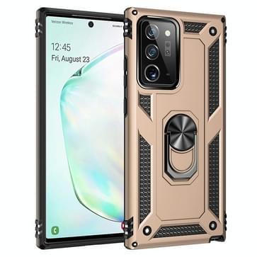 Voor Samsung Galaxy Note20 Ultra Schokbestendige TPU + pc beschermhoes met 360 graden roterende houder(Goud)