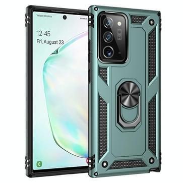Voor Samsung Galaxy Note20 Ultra Schokbestendige TPU + pc beschermhoes met 360 graden roterende houder(groen)