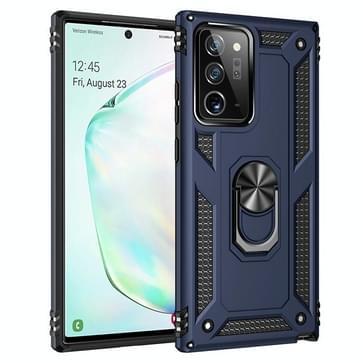 Voor Samsung Galaxy Note20 Ultra Schokbestendige TPU + pc beschermhoes met 360 graden roterende houder(blauw)