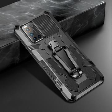 Voor Vivo V19 Machine Armor Warrior Shockproof PC + TPU Protective Case(Zwart)