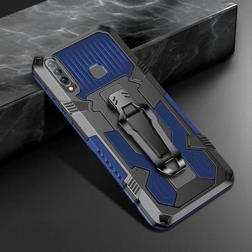 Voor Vivo Y17 Machine Armor Warrior Shockproof PC + TPU Beschermhoes(blauw)