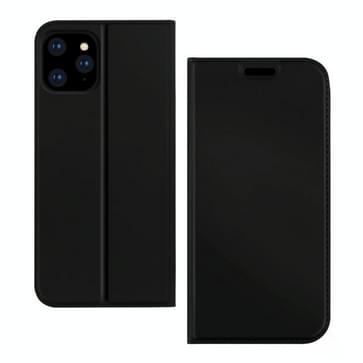 Voor iPhone 12 Pro Max DZGOGO ISKIN-serie Slight Frosted PU + TPU Case(Zwart)