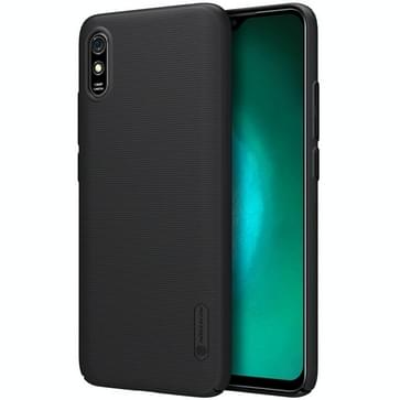 Voor Xiaomi Redmi 9A NILLKIN Frosted Concave-convex Texture PC Protective Case(Zwart)