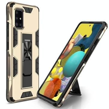Voor Samsung Galaxy A51 5G Soldier Armor Shockproof TPU + PC Magnetic Protective Case met Holder(Gold)