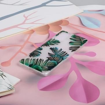 Voor Samsung Galaxy S20 gekleurd tekenpatroon zeer transparante TPU beschermhoes (banana leaf)