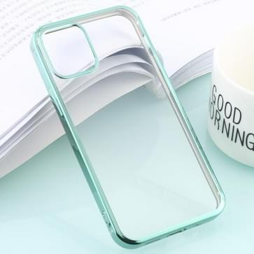 Voor iPhone 12 / 12 Pro Ultra-dunne Plating TPU Protective Soft Case (Groen)