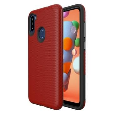 Voor Samsung Galaxy M11 Triangle Armor Texture TPU + PC Case(Rood)