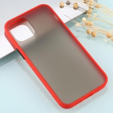 Voor iPhone 12 Pro Max Skin Feel Series Shockproof Frosted TPU + PC Protective Case(Red)