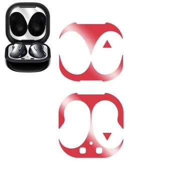 Voor Samsung Galaxy Buds Live Wireless Earphone Protective Case Protective Sticker(Rood)