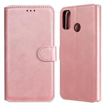 Voor Huawei Honor 9X Lite Classic Kalf Texture PU + TPU Horizontale Flip Lederen case  met Holder & Card Slots & Wallet(Rose Gold)