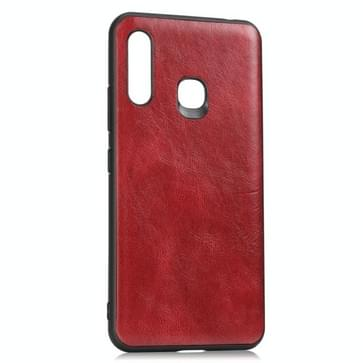 Voor Samsung Galaxy A70e Crazy Horse Getexturd Kalfskin PU +PC + TPU Case (Rood)