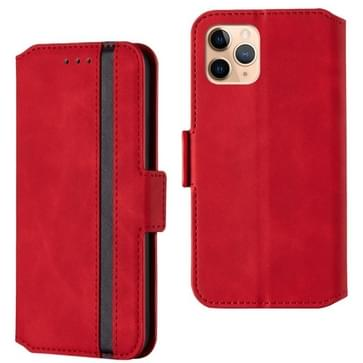 Voor iPhone 12 Pro Max Retro Frosted Oil Side Horizontale Flip PU Lederen case met Holder & Card Slots(Rood)
