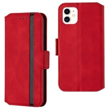 Voor iPhone 12 mini Retro Frosted Oil Side Horizontale Flip PU Lederen case met Holder & Card Slots(Red)