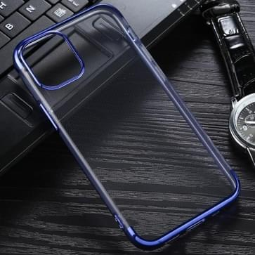 Voor iPhone 12 mini Three Stage Electroplating TPU Protective Soft Case(Blauw)