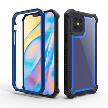 Voor iPhone 12 mini schokbestendige all-inclusive transparante ruimte beschermhoes (Zwart Blauw)