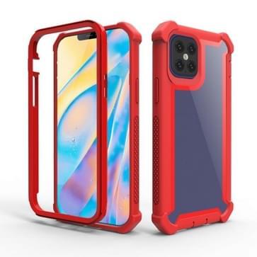 Voor iPhone 12 mini schokbestendige all-inclusive transparante ruimte beschermhoes (Rood)