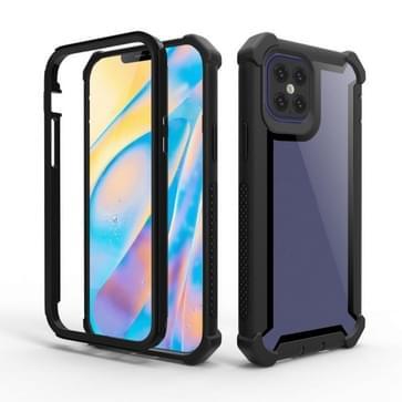 Voor iPhone 12 / 12 Pro Schokbestendige all-inclusive transparante ruimte beschermhoes (Zwart)