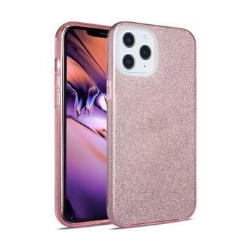 Voor iPhone 12 mini TPU Glitter All-inclusive Shockproof Beschermhoes (Roze)