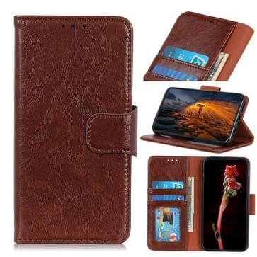 Voor Alcatel 3X (2020) Nappa Texture Horizontale Flip Lederen Kast met Holder & Card Slots & Wallet(Bruin)