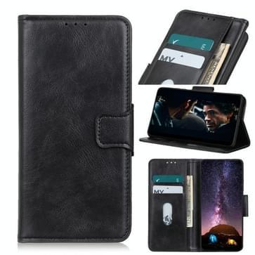 Voor Motorola Moto G9 Plus Mirren Crazy Horse Texture Horizontale Flip Lederen case met Holder & Card Slots & Wallet(Zwart)