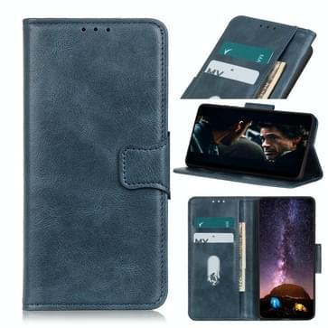 Voor Motorola Moto G9 Plus Mirren Crazy Horse Texture Horizontale Flip Lederen case met Holder & Card Slots & Wallet(Blauw)