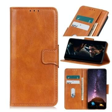 Voor Motorola Moto G9 Plus Mirren Crazy Horse Texture Horizontale Flip Lederen Case met Holder & Card Slots & Wallet(Brown)