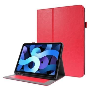 Voor iPad Pro 12 9 inch (2020) Crazy Horse Texture Horizontale Flip Lederen kast met 2-vouwende Houder & Kaart slot(Rood)