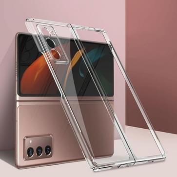 Voor Samsung Galaxy Z Fold2 5G GKK Straight Edge Phantom TPU + Plating Beschermhoes(transparant)