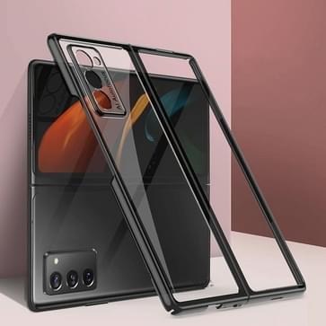 Voor Samsung Galaxy Z Fold2 5G GKK Straight Edge Phantom TPU + Plating Protective Case(Zwart)